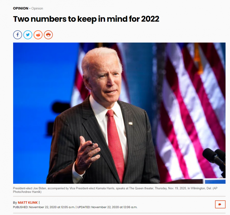 Numbers to keep in mind for 2022  - LA Daily News Article by Matt Klink